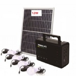 DC solar lighting system use for outdoor camping activity or student learning at night