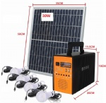 easy install high efficiency led light emergency solar kits systems for africa